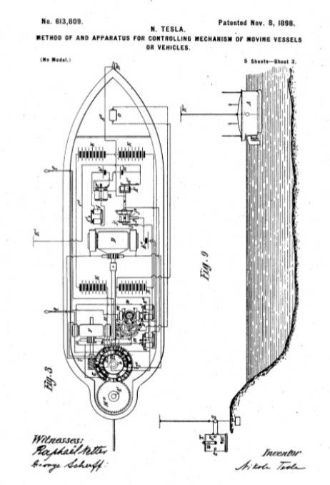 Patente barco teledirigido Tesla
