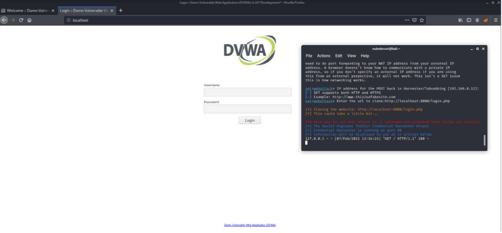 clonar login DVWA
