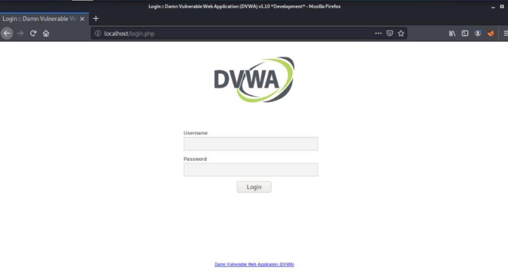 web vulnerable DVWA